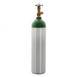 Cilindro de Oxigênio Portátil em Alumínio 1 Litro - Vazio (para gerador de Ozônio)