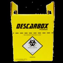 Coletor De Perfurocortantes Com Desagulhador 1,5 Litros - Descarbox